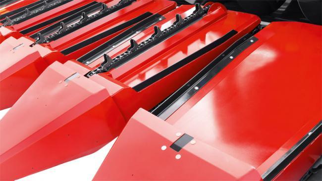 10. kép A termény továbbítását segítő fülesláncok Geringhoff Sun Star adapteren