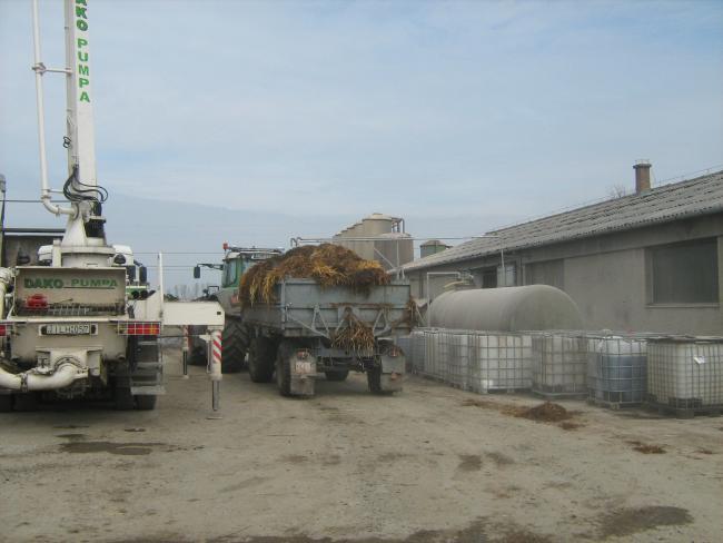 4. ábra:Az üzemben az almos istállótrágya szállítása nem kis feladatot jelent, ezért erre szinte valamennyi szállítóeszközt felhasználnak