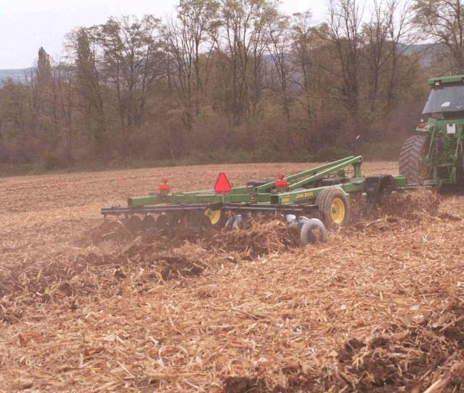 8/a-b. ábra: A lazítótárcsás munkaeszközök gabona- és kukoricatarlón is hatékony munkát végeznek