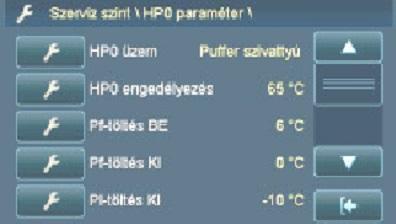 5. ábra: A puffertartály hőmérséklet korrekció beállítási lehetőségei
