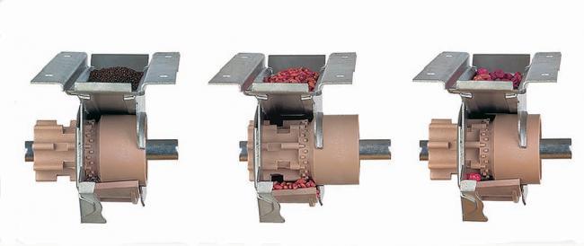 2.kép Tolóhengeres magadagoló szerkezet beállíthatósága kis-, normál- és nagymagvak vetéséhez