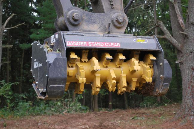 Digga MM36 erdészeti zúzófej