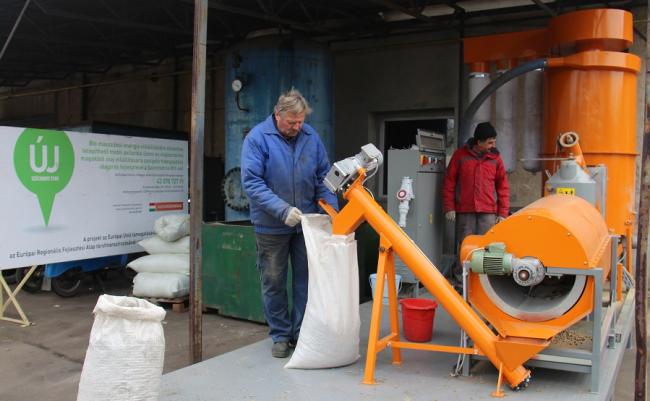 Mobil pelletáló üzem és hidegsajtoló olajprés fejlesztése Karcagon