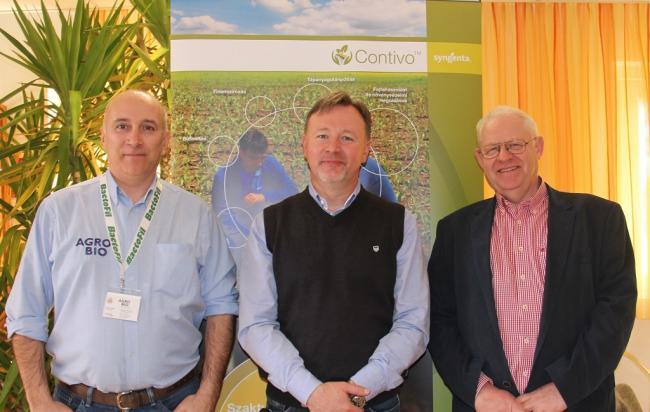 Daoda Zoltán (AGRO.bio Hungary Kft.), Kalmár Tibor (Vaderstad Kft.) és Lőwi Vilmos (Austro Diesel GmbH)