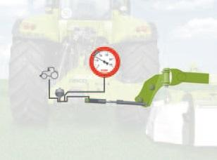 6. ábra: A hidropneumatikus rugózású talajterhelés szabályozás működési vázlata