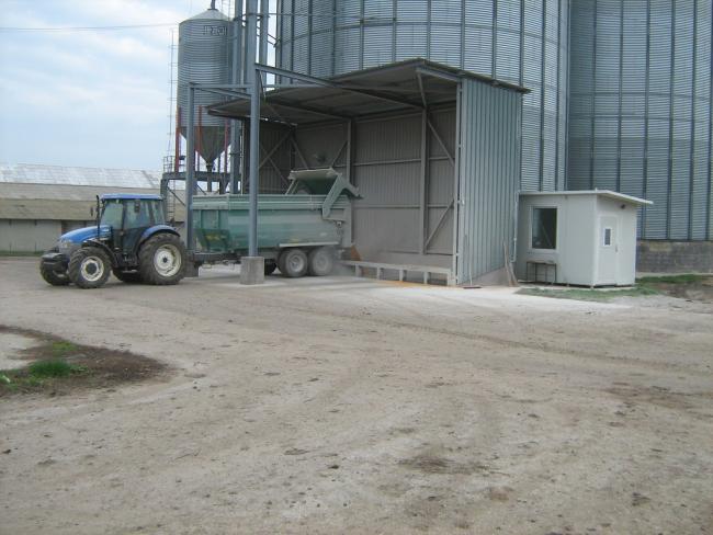 13. ábra: A tisztító-, szárító-, tároló helyek fogadóhelyei jól illeszkednek a szállítóeszközök méreteihez