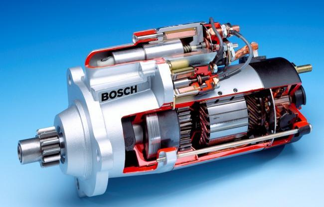 2. ábra Menetes tengelyű indítómotor (Fotó: Bosch)
