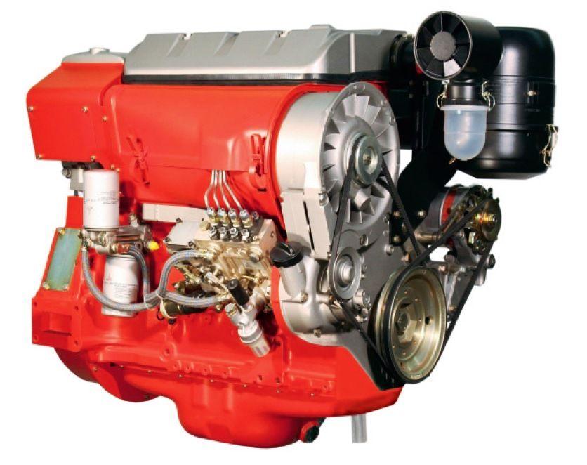 8. ábra. Deutz D914 L4 típusjelzésű léghűtéses dízelmotor
