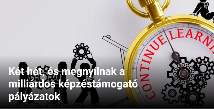 Két hét, és megnyílnak a milliárdos képzéstámogató pályázatok Június elsejétől jelentkezhetnek a budapesti és Pest megyei kkv-k a várva várt, munkahelyi képzéseket támogató EU-pályázatra, de a vidéki cégek és a nagyvállalatok sem maradnak uniós források nélkül: a vallalkozokforuma.hu összesítése szerint a hónapban összesen közel 24 milliárd forint keretösszeggel nyílnak meg munkahelyi képzéseket támogató pályázatok.