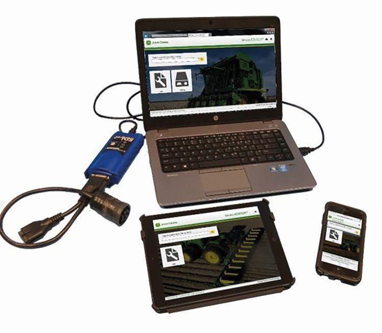 2. kép. A prediktív karbantartás alapeszközei: hibakód-kiolvasó, laptop, tablet, mobiltelefon (forrás: www.nak.hu/kiadvanyok/)