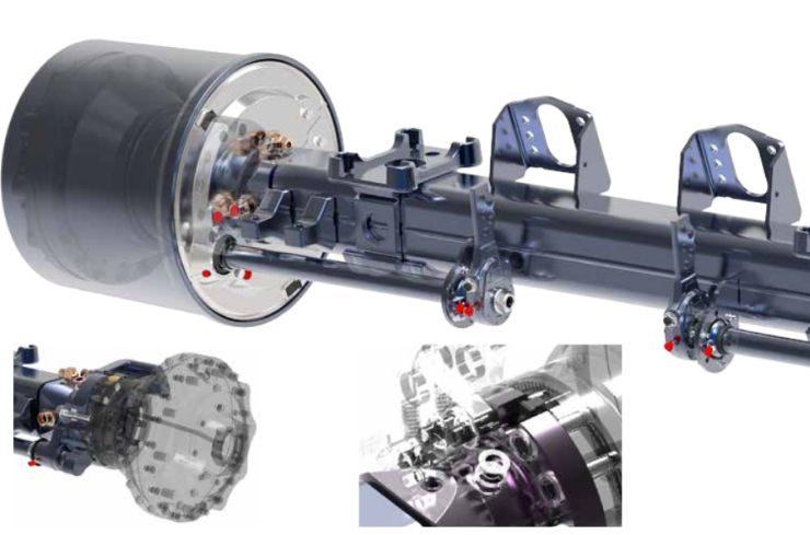 9. kép. BPW-AGRO Drive rendszer működése és beépítése