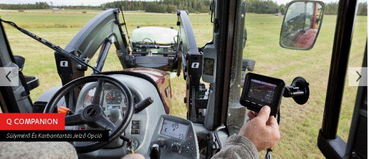A traktoros homlokrakodóknál alkalmazott súlymérő kijelzőterminál kezelőfelülete