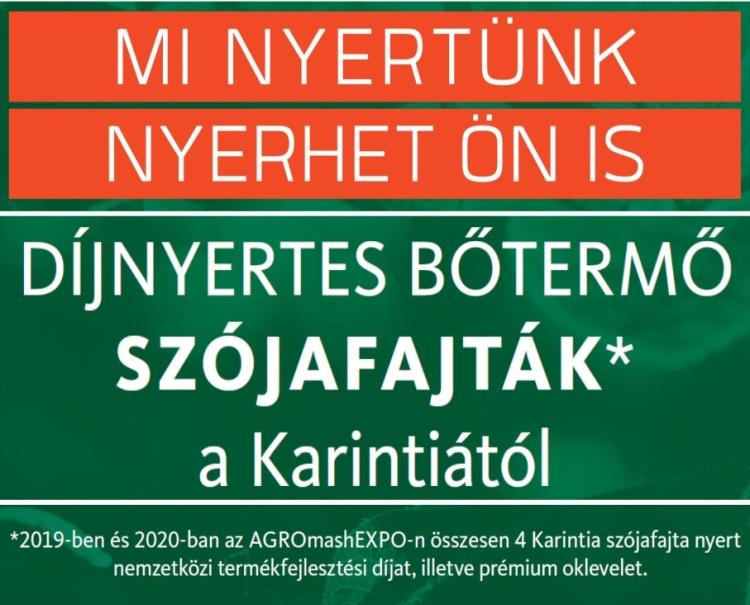 díjnyertes szója Karintia Kft.