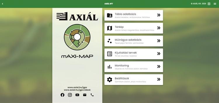 Axiál applikációja