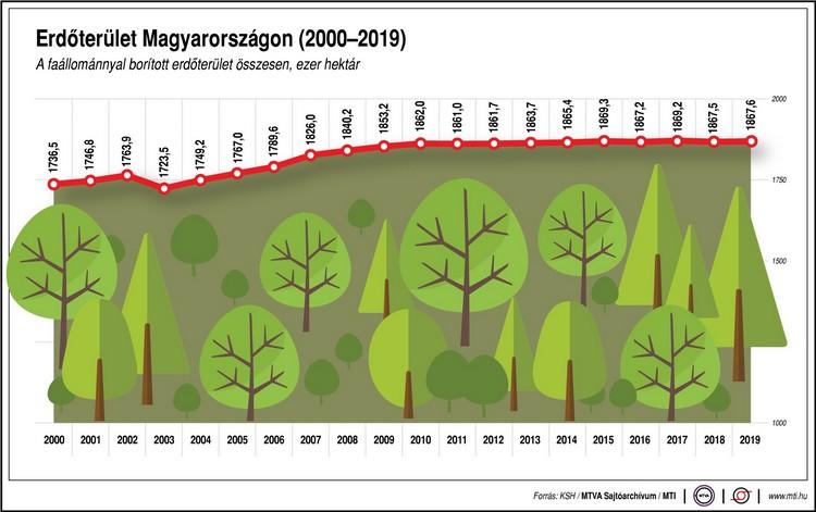 Mezőgazdaság, erdőtelepítés