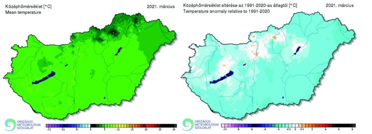 Hőmérséklet országos grafikon