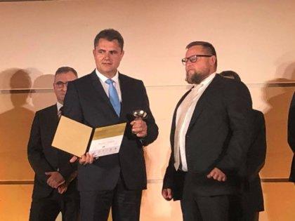 A Szántóföldi növénytermesztés kategória nyertese Berkes Gábor