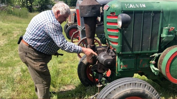 Hofherr traktor indítása