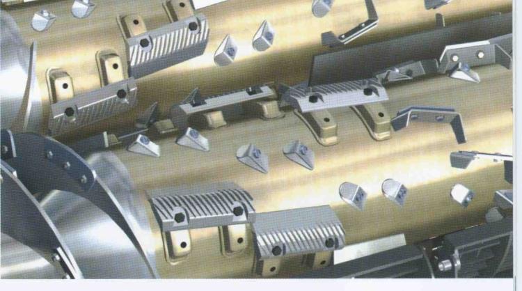 New Holland CR sorozat kétdobos axiális cséplőszerkezete